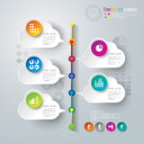 Abstract infographics template design. Abstract infographics template design with numbered paper elements Royalty Free Stock Images