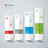 Abstract infographics template design. Abstract infographics template design with numbered paper elements Stock Photo