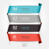 Abstract infographics template ribbon style. Stock Image