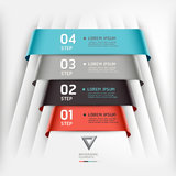 Abstract infographics template ribbon style. Royalty Free Stock Image