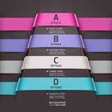 Abstract infographics template ribbon style. Stock Images