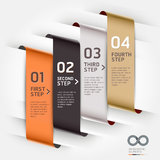 Abstract infographics template ribbon style. Vector illustration. can be used for workflow layout, diagram, number options, step up options, banner, web design Stock Image