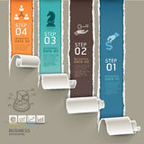 Abstract infographics template torn paper style. Royalty Free Stock Image