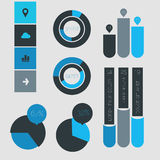 Abstract infographics templates collection Royalty Free Stock Photos