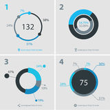 Abstract infographics templates collection. Flat ui design infographics template collection, gray-blue on light background Royalty Free Stock Images
