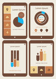Abstract infographics templates collection on Royalty Free Stock Photography