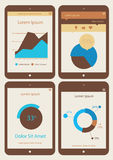 Abstract infographics templates collection on. Flat ui design infographics template collection on Tablet PC Stock Photos
