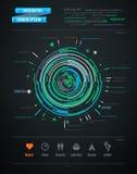 Abstract infographicselement op vervoer Royalty-vrije Stock Foto