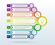 Abstract infographicsmalplaatje met pijlen Vlakke Ontwerpelementen royalty-vrije illustratie