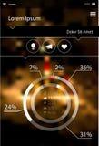 Abstract infographicsmalplaatje op vage helder Royalty-vrije Stock Foto