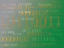 Abstract information background with binary code. Green technology. Abstract information background with binary code. Green technology Stock Image