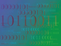 Abstract information background with binary code. Green technology. Abstract information background with binary code. Green technology Stock Images