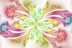 Abstract ingewikkeld bloemenornament op witte achtergrond Stock Afbeelding
