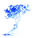 Abstract ink. In water isolated Royalty Free Stock Photos