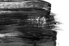 Abstract ink background. Marble style. Black and white paint stroke texture. Macro image of spackling paste. Wallpaper Royalty Free Stock Image
