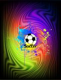 Abstract ink background with soccer ball. Vector Royalty Free Stock Photography
