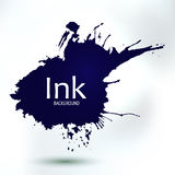 Abstract ink blob form, hand drawing art Stock Image
