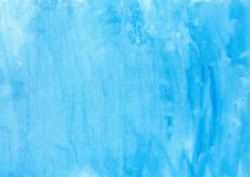 Abstract texture brush ink background blue aquarel watercolor splash hand paint on white background Stock Photo