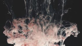 Abstract Ink colour flowing in water stock video