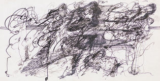 Abstract ink drawing Stock Photo
