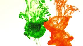 Abstract ink flows spread in underwater. Art graphic background stock video footage
