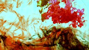 Abstract ink flows spread in underwater. Art graphic background stock video