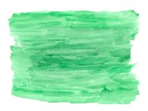 Abstract texture brush ink background green aquarel watercolor splash hand paint on white background. Abstract ink green aquarel watercolor splash hand paint on royalty free stock photography