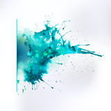 Abstract ink left oriented splash element Stock Photography