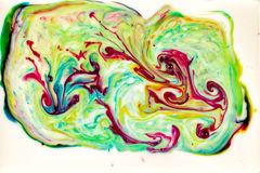 Abstract ink in liquid chaos background Stock Images