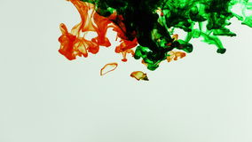 Abstract Ink Paint Art Blend Colorful Splash in Underwater stock footage