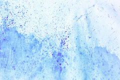 Abstract ink paint. Ink texture on white background. Blue abstract aquarelle backdrop pictured. Paintbrush hand made technique Stock Image