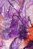 Abstract ink and paint splatter. Abstract grunge background of paint and ink splatter stock image
