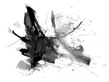 Abstract ink paint vector background Stock Images