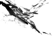 Abstract ink paint vector background Stock Photography