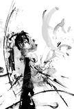 Abstract ink paint vector background Royalty Free Stock Images