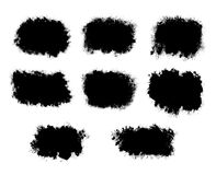 Abstract Ink splatter black shapes isolated on a white backgroun. D for use as a background, texture or mask Stock Images