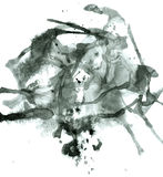 Abstract Ink black stains Stock Photos
