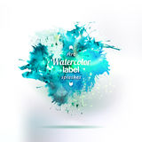 Abstract ink water drawing splash element Royalty Free Stock Photo