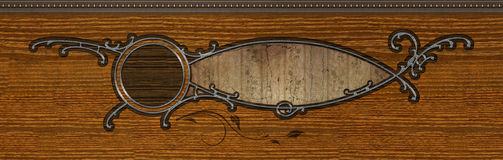 Abstract inlaid wood design. Details of an abstract inlaid wood design royalty free stock photos