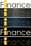 Abstract inscription finance money business logo. Abstract inscription finance money concept business logo Stock Photos