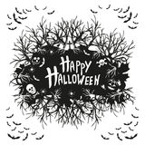 Abstract inscription Happy Halloween Stock Photography