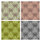 Spider pattern. Abstract insect pattern. Spider style. Vector seamless Stock Images