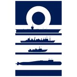 Abstract Insignia Navy admiral Royalty Free Stock Image
