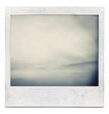 Abstract instant film picture Royalty Free Stock Image