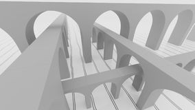 Abstract instersection of arc bridges 3d illustration. Abstract instersection of arc bridges 3d render Stock Images