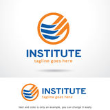 Abstract Instituut Logo Template Design Vector Stock Fotografie
