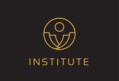 Abstract Instituut Logo Template Design Vector, Embleem, Ontwerpconcept, Creatief Symbool, Pictogram Royalty-vrije Stock Afbeelding