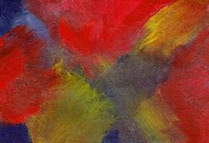 Abstract Intensity - Acrylic Painting. This is a hand drawn acrylic painting. It is an abstract motive. This painting symbolizes the power and energy of life Stock Images