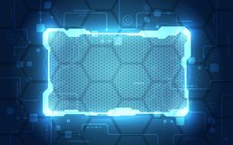 Abstract interface circuit board technology, vector background Royalty Free Stock Photos