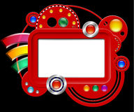 Abstract interface with screen and buttons Stock Photography